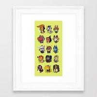 dangan ronpa Framed Art Prints featuring Dangan Crossing by Dampho