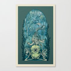 s'accrocher à l'amour Canvas Print