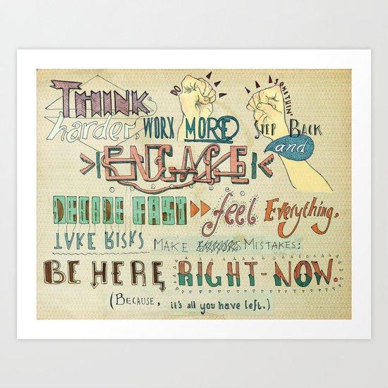 To Do Something. Art Print