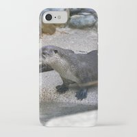 otter iPhone & iPod Cases featuring Otter by Phil Hinkle Designs