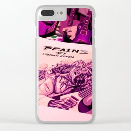 BRAINS album cover Clear iPhone Case