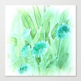 Soft Watercolor Floral Canvas Print