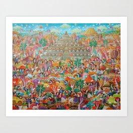 Borobudur Temple World's Heritage Art Print