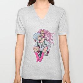 Sailor Chibi Moon and Helios  Unisex V-Neck