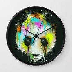 Technicolour Panda Wall Clock