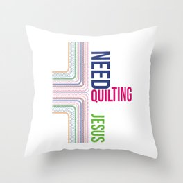 Quilting Jesus Christ Christian Quilt Crafting Religious Gift Throw Pillow