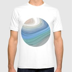 Topography White Mens Fitted Tee MEDIUM