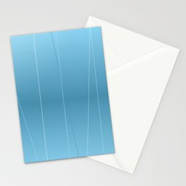 Modern Blue Line Art Stationery Cards