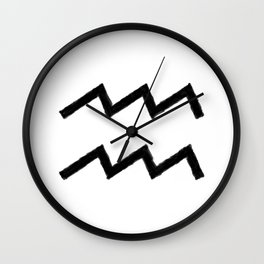 AQUARIUS SYMBOL IN OIL Wall Clock