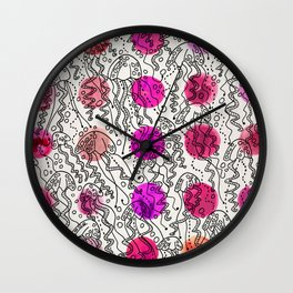 Dotty Jellyfish Wall Clock