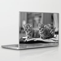 kittens Laptop & iPad Skins featuring kittens by Grigoriy Pil