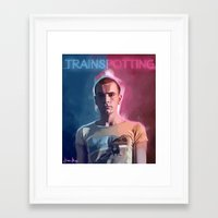 trainspotting Framed Art Prints featuring Trainspotting - Renton by KevinART