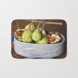 Fresh Chestnuts - AUTUMN STILL LIFE Bath Mat