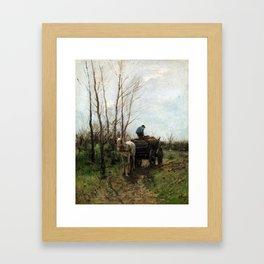 William Morris Hunt Girl at the Fountain Framed Art Print
