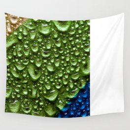 Abstract Colorful Wet Paper 02 Wall Tapestry