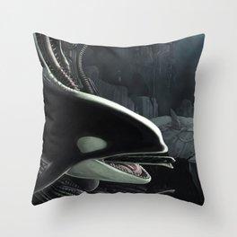 Whalien Throw Pillow
