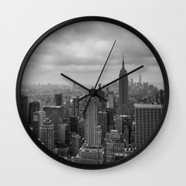 New York Black and White Wall Clock