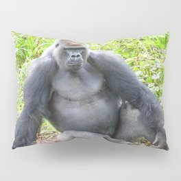 Gorilla Pose Pillow Sham