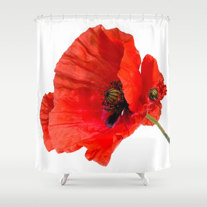 Poppy Shower Curtain By Fineartmetamorphosis