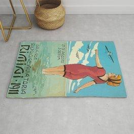 Italian Vintage Poster Rimini Rug