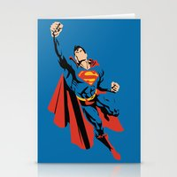 dc Stationery Cards featuring DC - Superman by TracingHorses