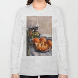 Still life with fresh tangerines Long Sleeve T-shirt