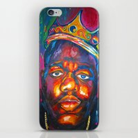 biggie smalls iPhone & iPod Skins featuring BIGGIE SMALLS by Molly Forster