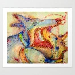 Luff Bites Art Print