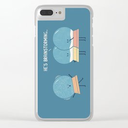 Brainstorming Clear iPhone Case