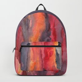 Behind City Life - Watercolor art painting Backpack