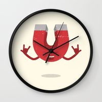 metal Wall Clocks featuring Metal! by Vectored Life
