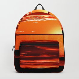 Red sunset Delight Backpack