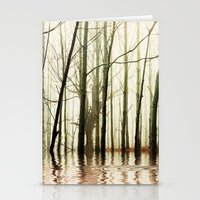 ghost Stationery Cards featuring GHOST TREES by Catspaws