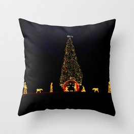 Christmas in Rome Throw Pillow