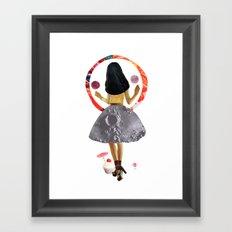 dancing on the moon Framed Art Print