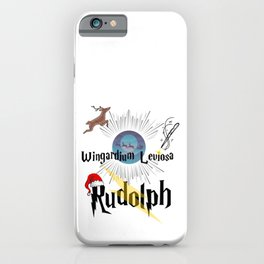 Magic Wizard Spell Rudolph Christmas  iPhone Case