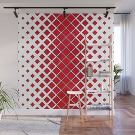 Diamonds Large to Small Red Wall Mural