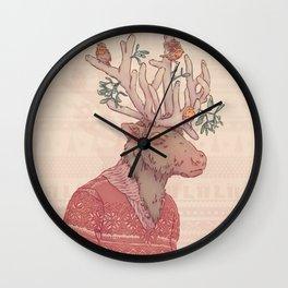 Prancer le Renne Wall Clock
