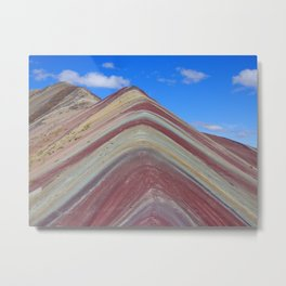 Rainbow Mountain, Peru Metal Print