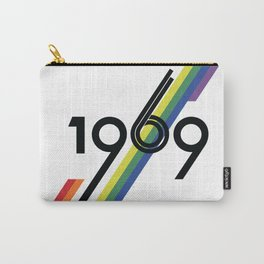 Unruly Vintage 1969 Logo Print Carry-All Pouch
