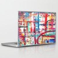 headphones Laptop & iPad Skins featuring Headphones by JillAshleyFortinART