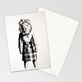 Lion in Kilt (Sketch) Stationery Cards