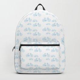 Blue Vintage Road Bike Pattern Backpack