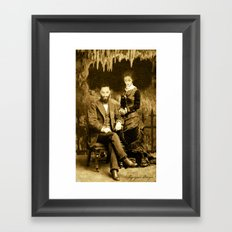 Dark Victorian Portrait Series: Hades and Persephone Framed Art Print