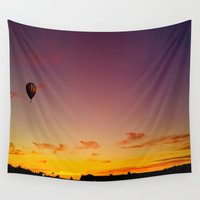 ballon Wall Tapestries featuring Ballon Sunset by JDHicks
