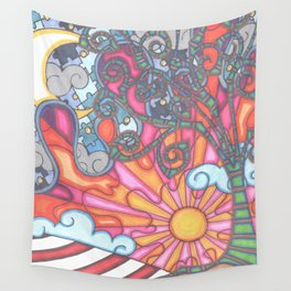 puzzled night Wall Tapestry