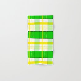 Yellow and Green Plaid Hand & Bath Towel