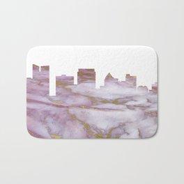 Fort Lauderdale Skyline Bath Mat