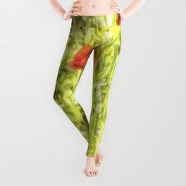 Poppy Watercolour Art Leggings