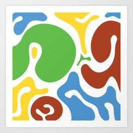 Spot colors Art Print